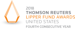 Winner of the 2018 Thomson Reuters Lipper Fund Awards United States Fourth Consecutive Year